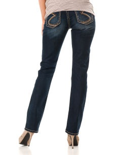Silver Jeans Secret Fit Belly(r) 5 Pocket Straight Leg Maternity Jeans