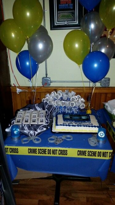 Cake Table Police Retirement Party In 2019 Police