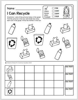 FREEBIE! NO-PREP Kindergarten Science Doodles Printables