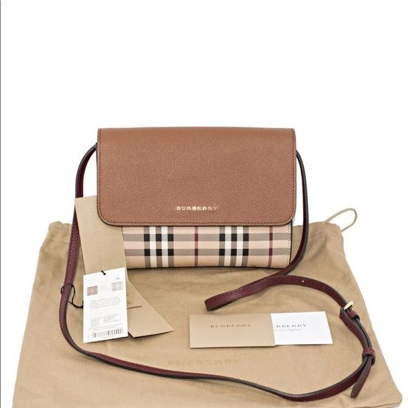 """f0f9158dfb7a Burberry Haymarket Loxley Crossbody  40605301 Burberry Small Loxley Color  Block Bright Toffee Multi Haymarket Check Leather Cross Body Bag  Dimensions  8.8""""L ..."""