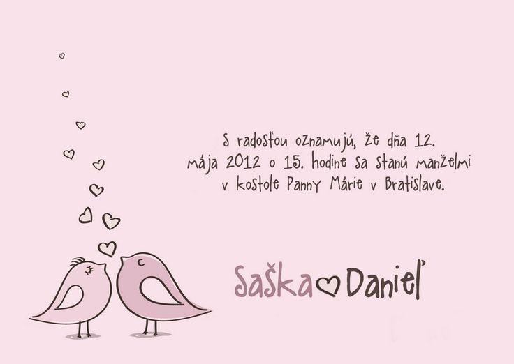 originální svatební oznámení od Laris Design http://www.svatba-oznameni.cz/