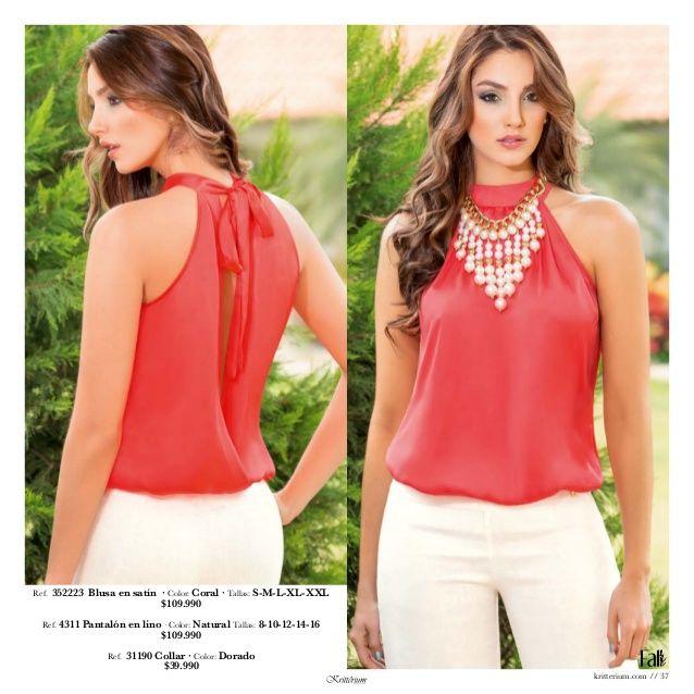 17 mejores ideas sobre Blusas De Chifon Elegantes en Pinterest ...