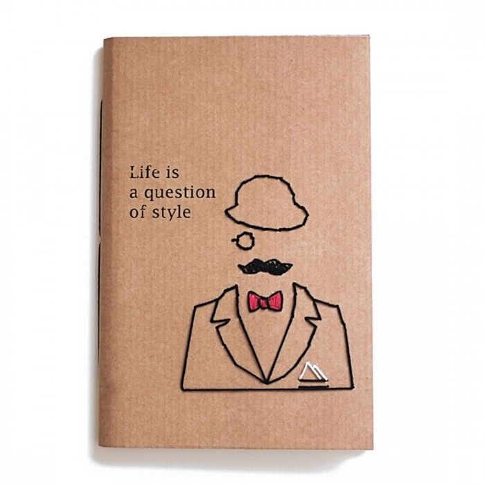Notebook Line Rètro Life Is A Question Of Style