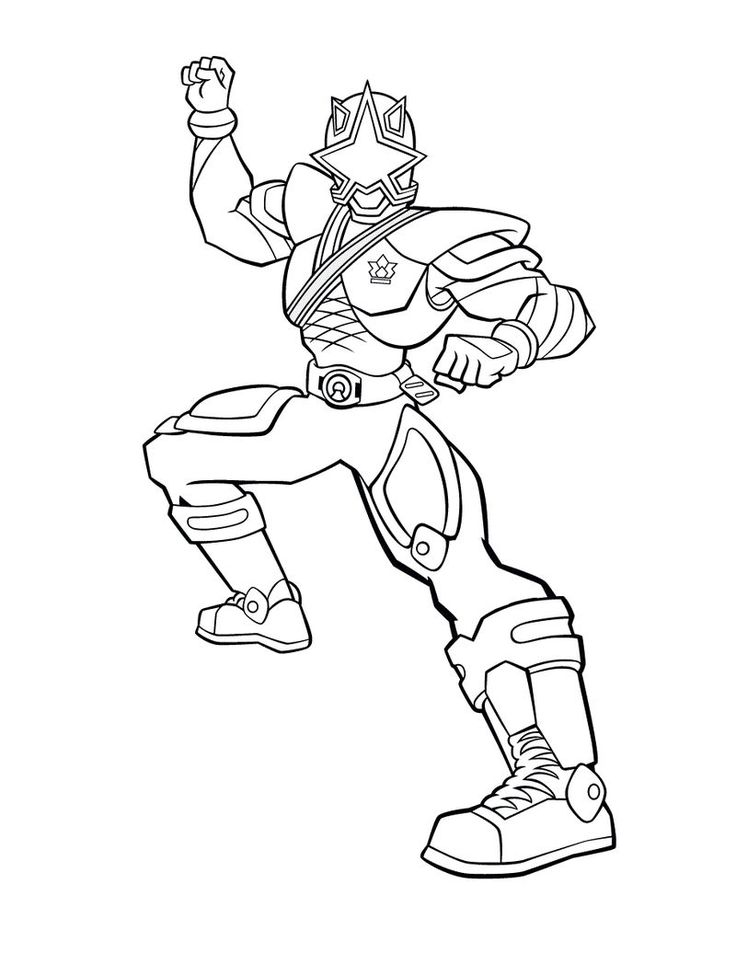 Power Ranger Coloring Pages For Kids Power rangers