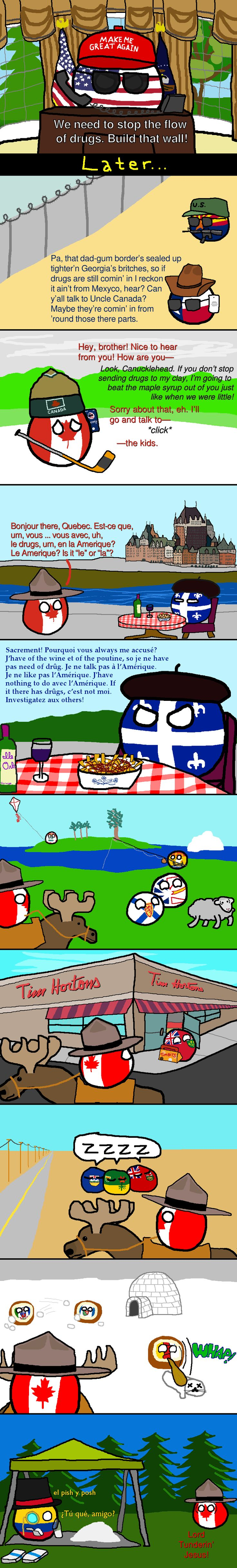 The Great White North | Polandballs Countryballs