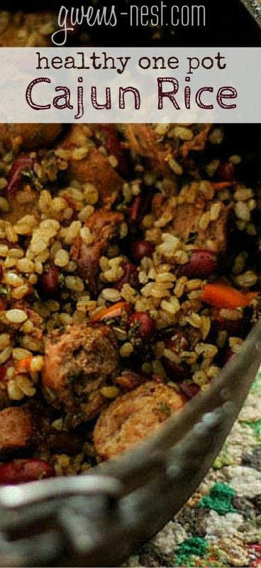 a quick one pot cajun dirty rice dish that's hearty, healthy, and quick to make family favorite. [a THM crossover]