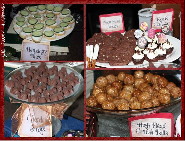Harry Potter Appetizers and snacks -- -for the win!  just Sweet and Simple: Harry Potter Party