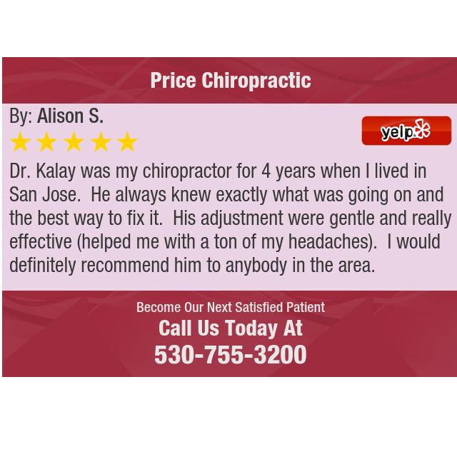 Dr. Kalay was my chiropractor for 4 years when I lived in San Jose. He always knew...