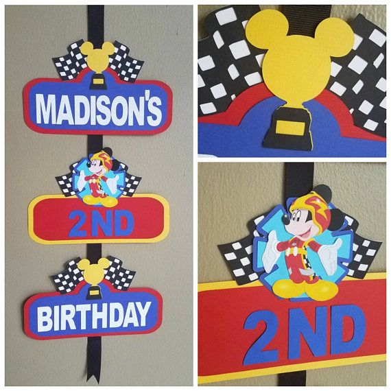Racers Mickey Roadster bienvenida señal Racers Mickey