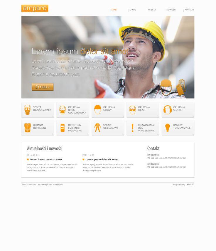 Projekt dla firmy Amparo. Akcesoria BHP.