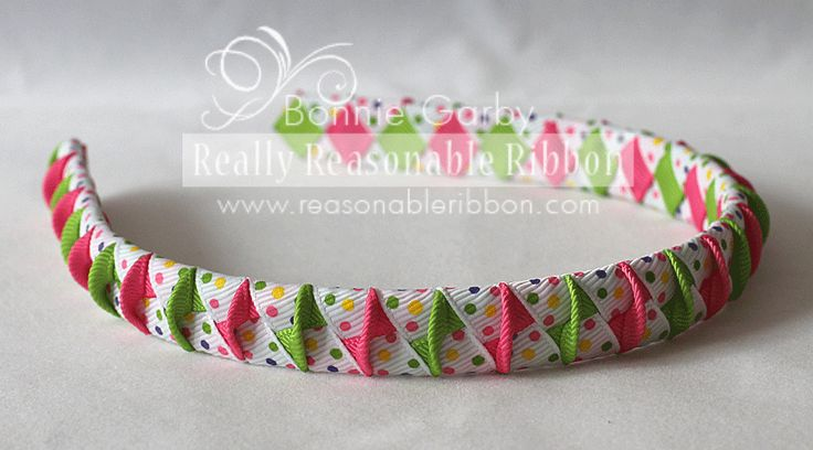 Fun Summer Woven Ribbon Headband Tutorial