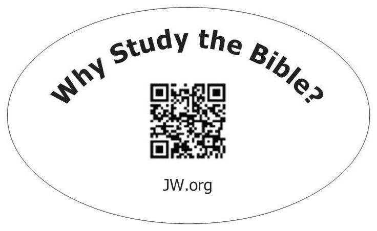 Why Study the Bible Oval QR Code BUMPER STICKER Jehovahs