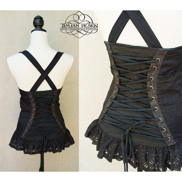 9f59e32ca0 Mistress Steampunk Corset Pirate Cabaret Steam Punk Burlesque... ( 102) ❤  liked on Polyvore featuring tops