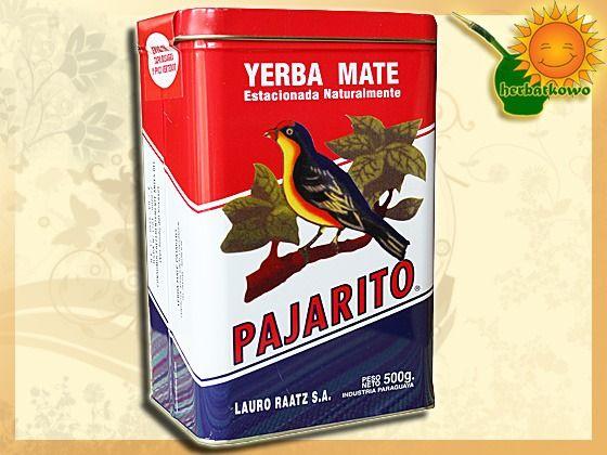 Yerba Mate Pajarito 0,5 kg w puszce   www.herbatkowo.com.pl Jednym z bardziej praktycznych akcesoriów w naszym sklepie jest metalowa puszka do przechowywania yerba mate. Oczywiście można w niej trzymać również zwykłe herbaty lub zioła. Taki pojemnik jest lekki, a herbata w nim przechowywana długo zachowuje swoją świeżość, co przekłada się na wysoką jakość naparu o prawidłowym smaku i aromacie.