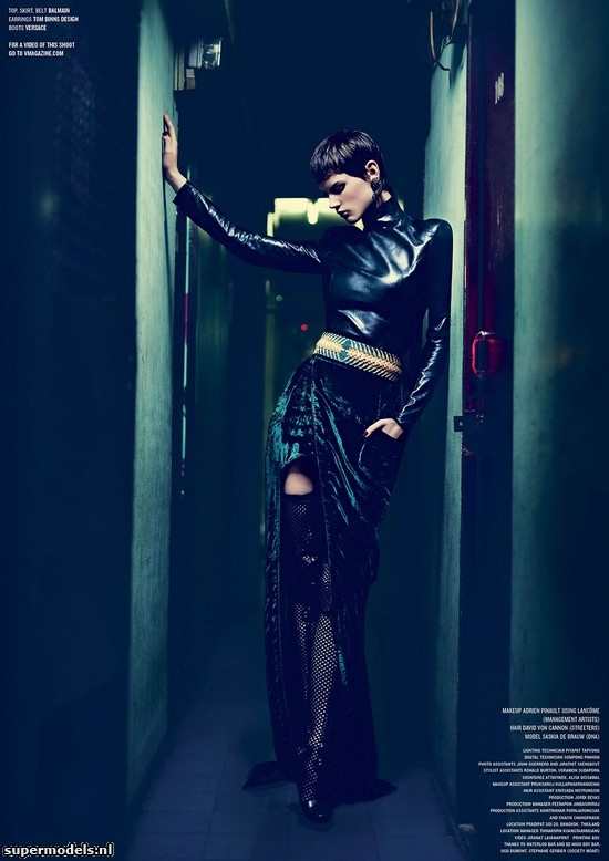 Saskia de Brauw in 'One Night In Bangkok' - Photographed by Nathaniel Goldberg (V #79 Fall 2012)    Complete shoot after the click...