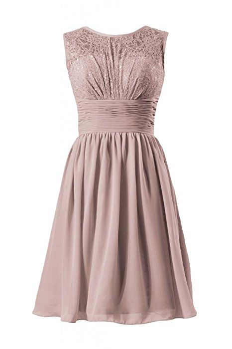 DaisyFormals Vintage Lace Dress Short Lace Bridesmaid Dress Formal Dress(BM2529)- Dusty Rose
