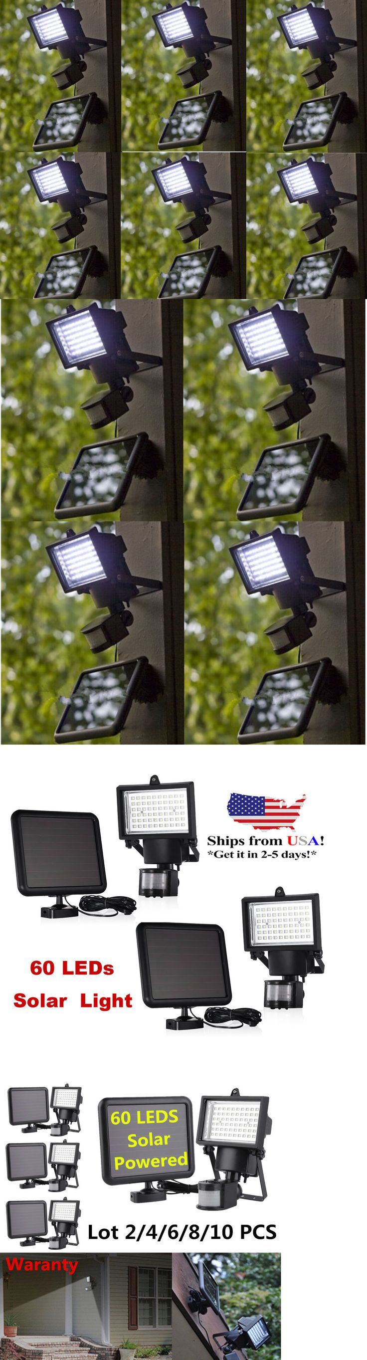 Landscape and Walkway Lights 94940: 6Pack 60 Smd Led Solar Powered Motion Sensor Security Light Flood Light Lamp Lot -> BUY IT NOW ONLY: $168.95 on eBay!