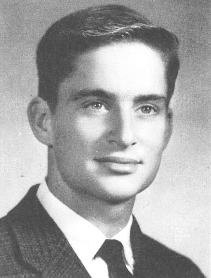 Michael Douglas suited up for his senior portrait while attending Chocate Prepatory School in Wallingford, Connecticut, in 1963.