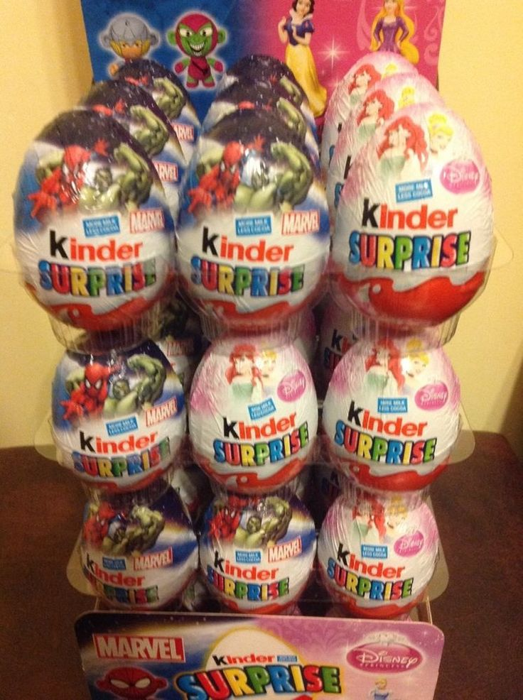 5 x Kinder Surprise Eggs Marvel / Disney milk chocolate limited edition Ferrero