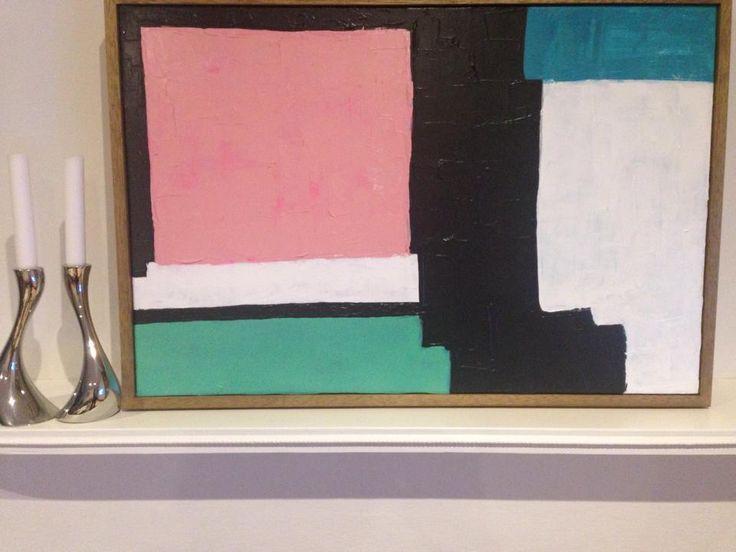 Gelato Stacks Abstract Art Painting (Daniela Kiss Acrylic on canvas) FOR SALE: $385 AUD Framed