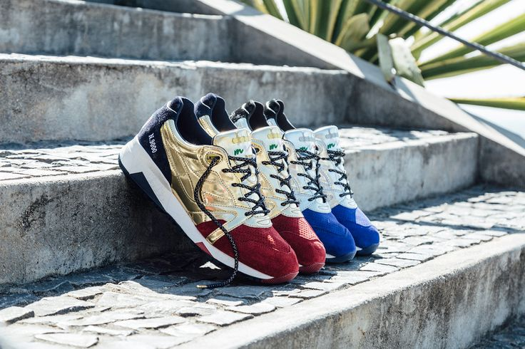 "Social Status and Diadora present their newest collaboration, the N9000 ""Rio Olympic Medals,"" inspired by the upcoming Rio 2016 Olympics."