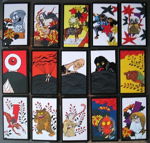 Gegege no Kitaro Hanafuda cards close up