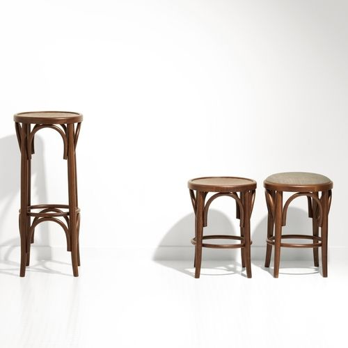 800 Our bentwood stool is manufactures in Australia from European parts.  Also available with a padded seat option.