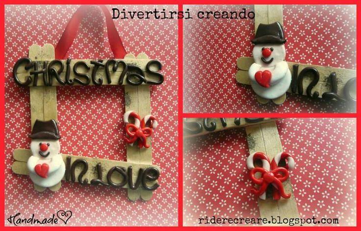 Targhetta natalizia - Weihnachtsdeko