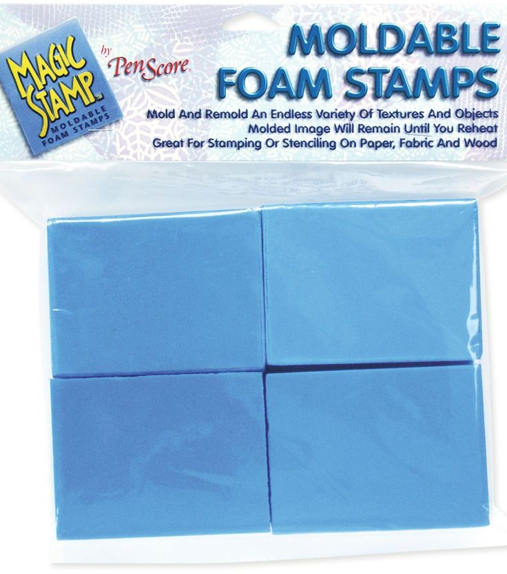 MOLDABLE FOAM STAMPS! Hot glue a design on paper, then heat the foam and once the glue is dry you imprint it on the stamp and it would be GREAT for gelli printing! Then re-heat it to make a new design! SO COOL.