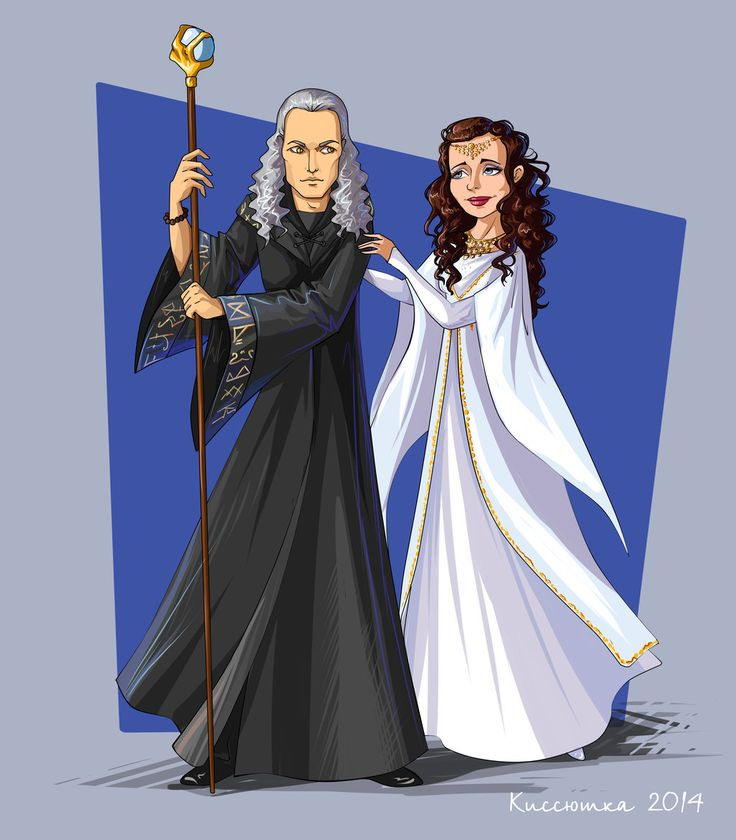 Raistlin and  Crysania 02 by kissyushka.deviantart.com on @DeviantArt