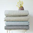 Stripe, Star Or Pattern Cotton Quilt Throw