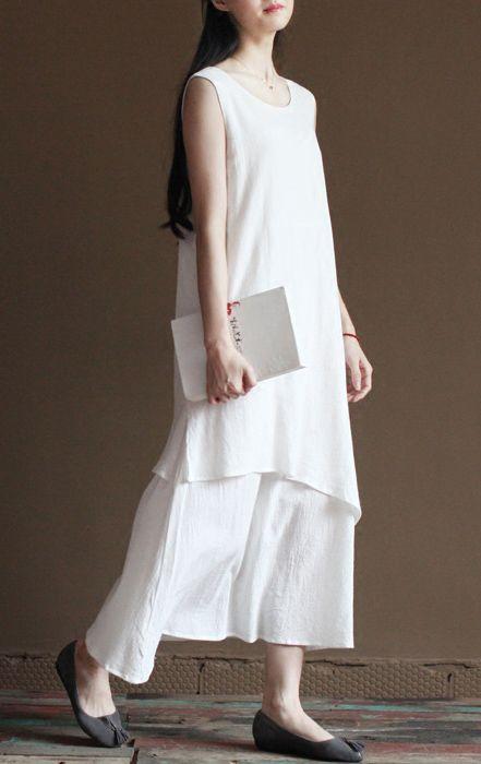 Best 25  White linen dresses ideas on Pinterest | Linen dresses ...