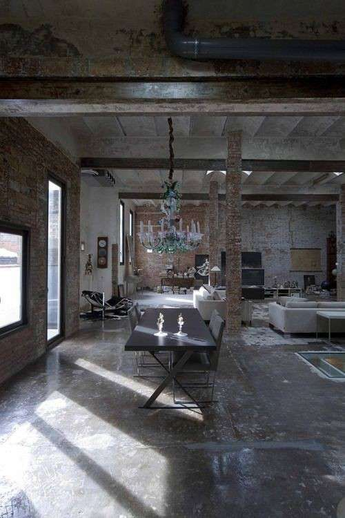 Arredo stile industriale - Sala giorno stile industriale