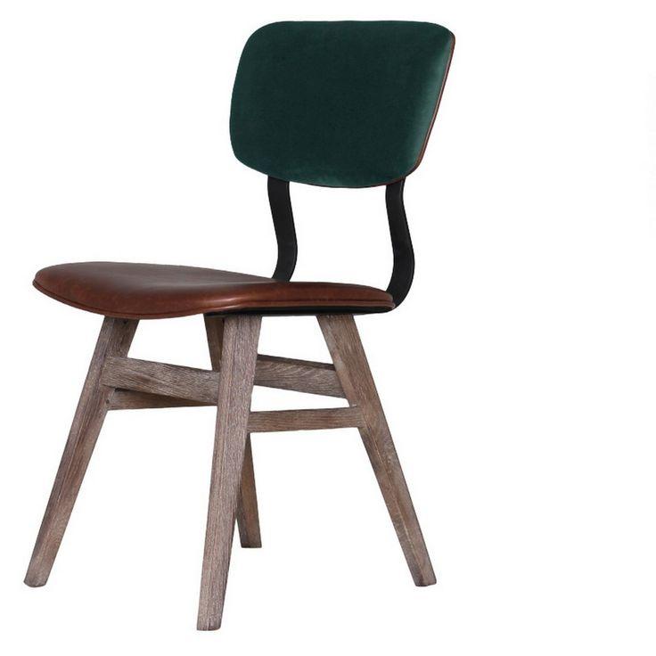 Retro Stuhl Leder Grün   Stühle   Sitzgelegenheiten