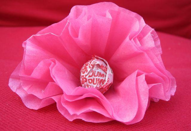 Lollipop poppies for Valentine's Day