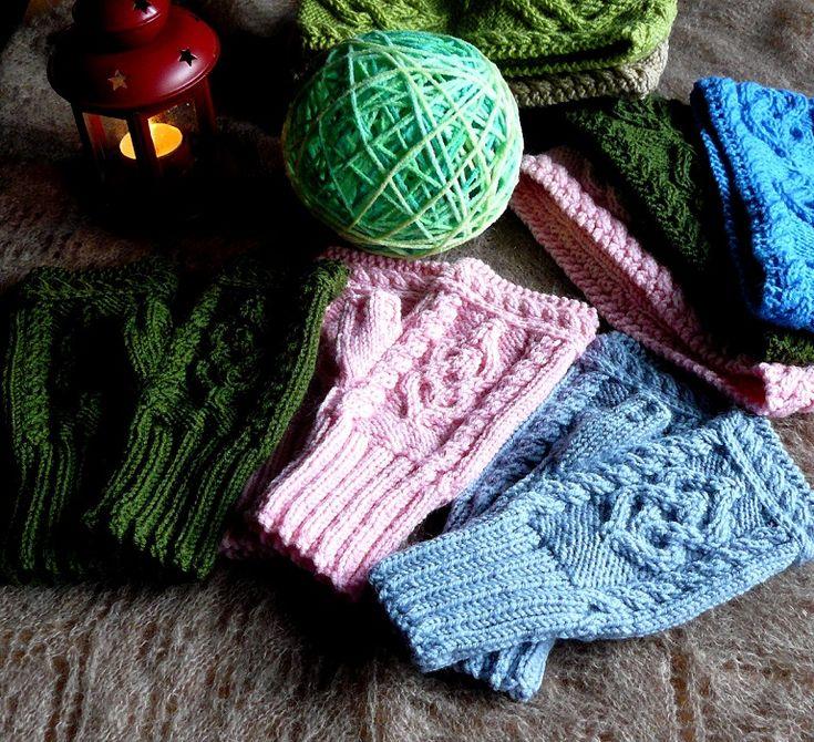 Hand knitted fingerless gloves women Fingerless mittens Arm warmers for her Valentines gift ideas