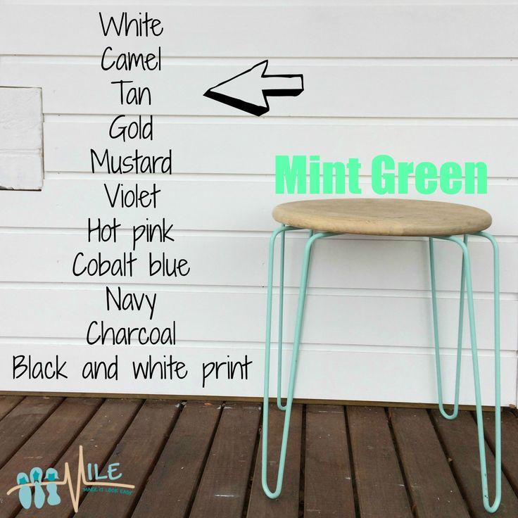 Mint green goes with...