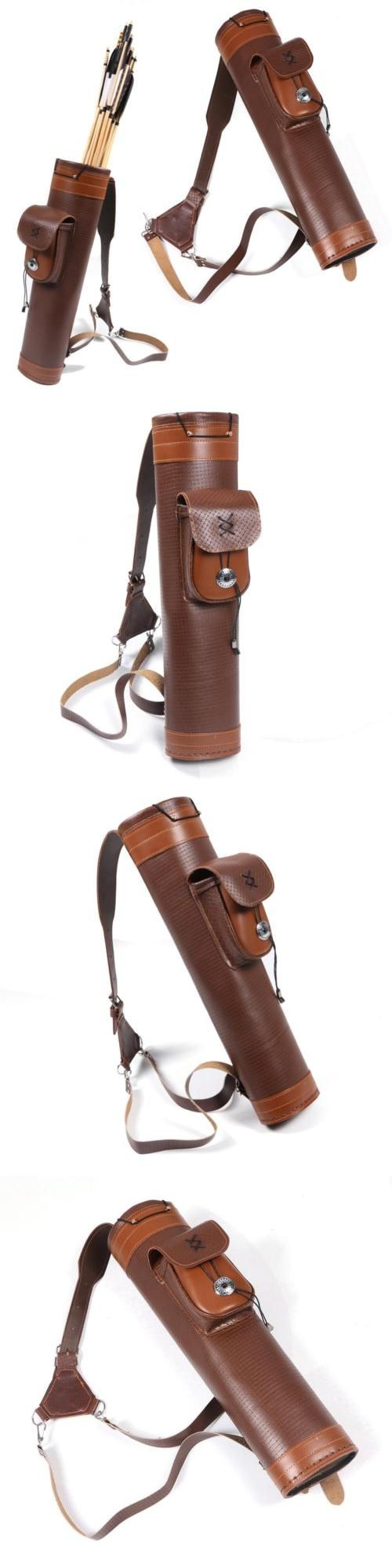 Quivers 20843: Traditional Cow Leather Archery Quiver Holder Straps Bag Fiberglass Carbon Arrow -> BUY IT NOW ONLY: $44.09 on eBay!