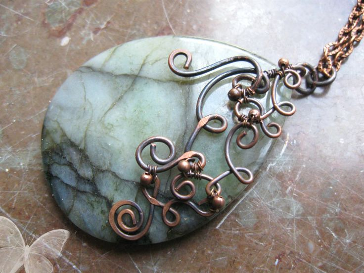 51 best Wire Wrapped Pendant Tutorials images on Pinterest | Wire ...