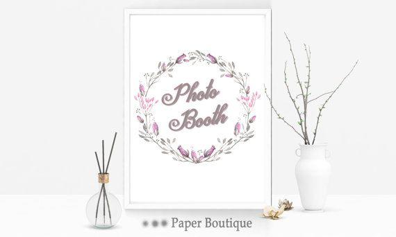Photo Booth Sign  PRINTABLE Photobooth Sign by PaperBoutiqueCA
