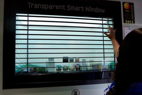 Transparent window TV.  I wonder if this will catch on.