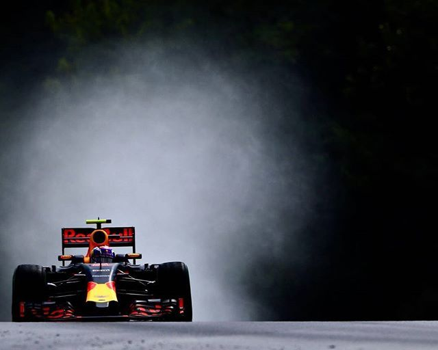 Had good fun in the rain today, eager for more tomorrow! #HungarianGP #keeppushing