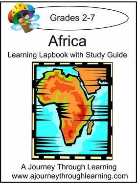 Learn all about the exciting continent of Africa! Topics include: Geography and Climate, Different Regions, Government, People, Major Ethic Groups, Language, Religion, Animals, Holidays and Traditions, Foods, and Crafts ideas. #homeschool #lapbooks