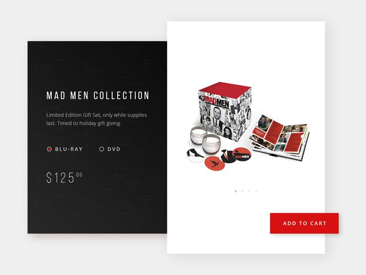 Mad Men Collection - Product UI by Jason Fallas