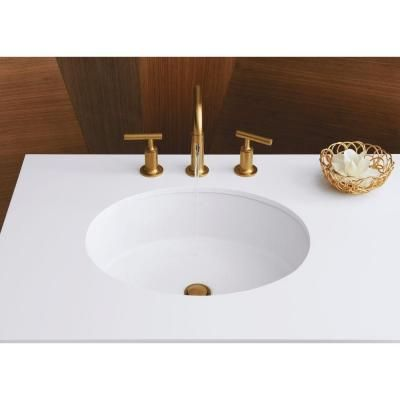 KOHLER Verticyl Oval Undermount Bathroom Sink In White K 2881 0   The
