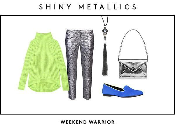 Stand Out At Brunch With This Shiny Metallic Outfit!