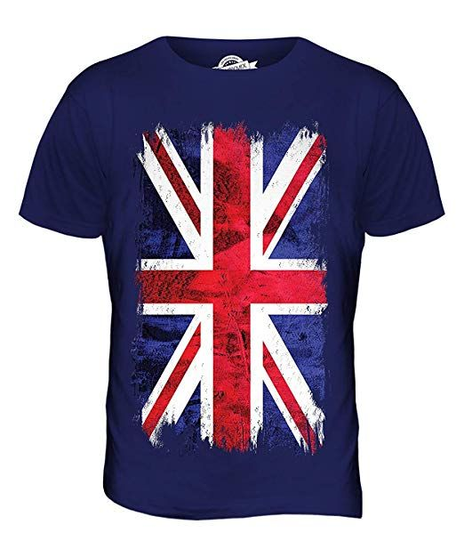 2a3bed83402b Union Jack Grunge Flag - Mens T-Shirt Top