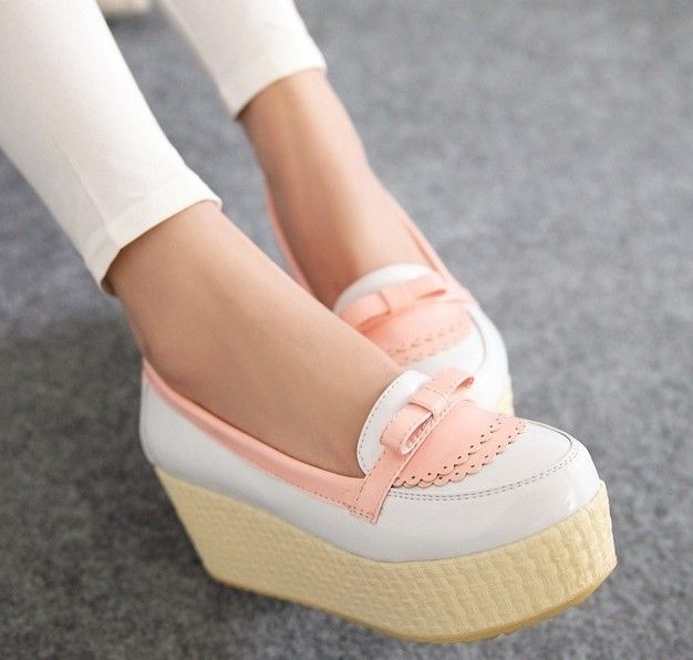 ENMAYER Black white size 34-39 Hot 2014 new sexy flat shoes for women, flats ladies creepers platform shoes $66.73
