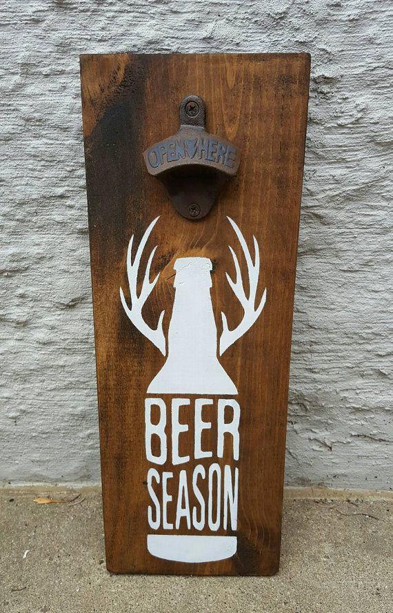 Open Season Wall Mount Beer Opener. Beer by CreationsByNicolette