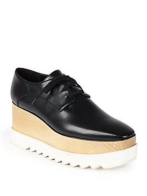 Stella McCartney - Faux Leather Triple Sole Lace-Up Shoes: the real deal